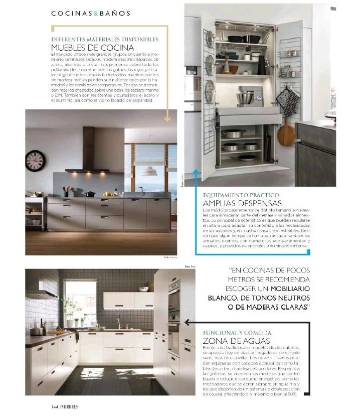 Cocinas Santos presente en la Revista Interiores - Artycocina